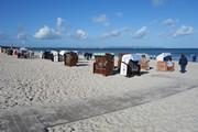 Der Strand von Binz im Herbst