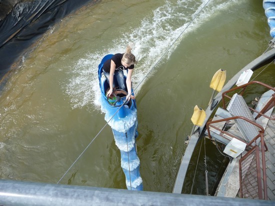 Action auf dem Wasserkarussel