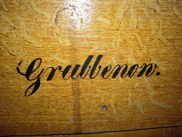 Schriftzug Grubbenow
