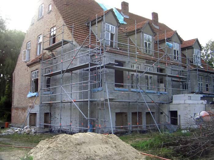 Renovierung des Ferienhauses