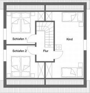 Dachgeschoß Ferienhaus