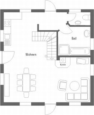 Floor plan carriage house EC