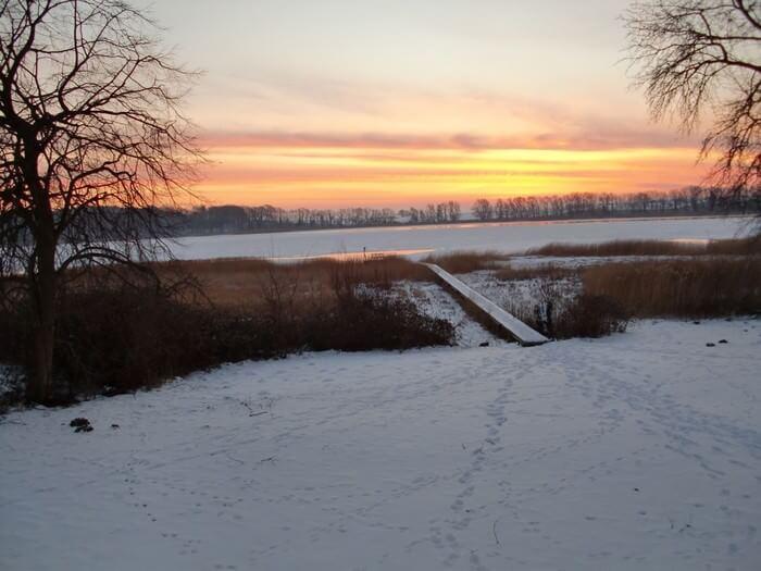 Ausblick Gut Grubnow im Winter
