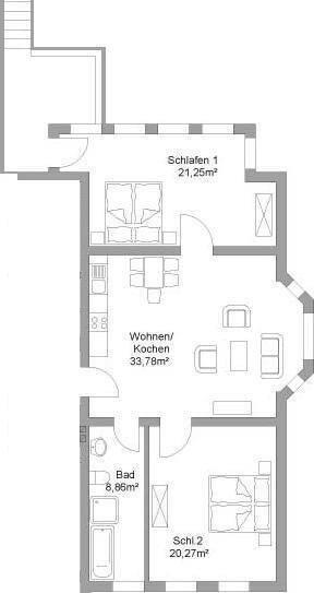 Floor plan of apartment III