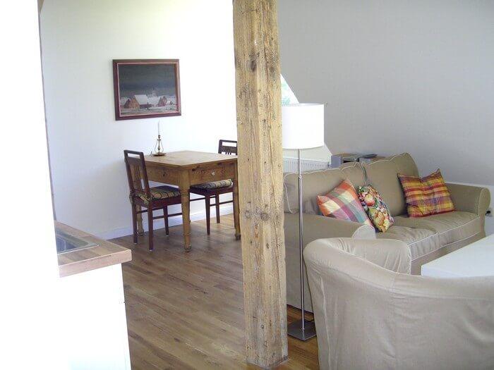 Wohnzimmer Ferienwohnung 6 Gut Grubnow