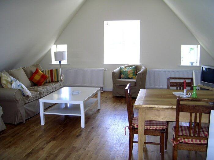 Wohnzimmer Ferienwohnung 8 Gut Grubnow
