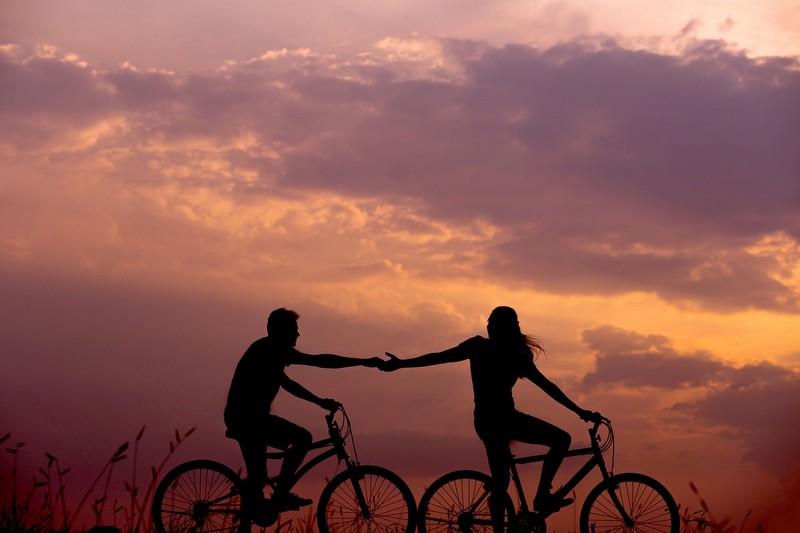 Fahrradfahren auf Rügen